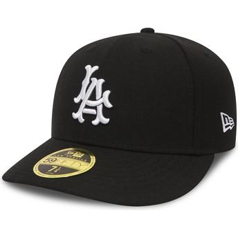 Cappellino visiera curva nero aderente 59FIFTY Coop Wool di Los Angeles Dodgers MLB di New Era