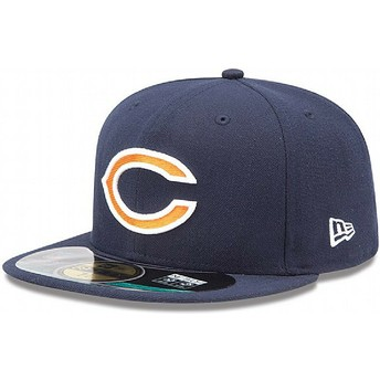 Cappellino visiera piatta blu marino aderente 59FIFTY On Field di Chicago Bears NFL di New Era