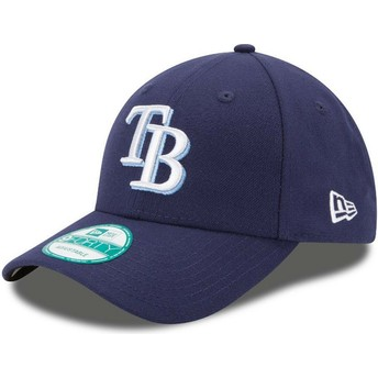Cappellino visiera curva blu marino regolabile 9FORTY The League di Tampa Bay Rays MLB di New Era