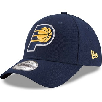 Cappellino visiera curva blu marino regolabile 9FORTY The League di Indiana Pacers NBA di New Era