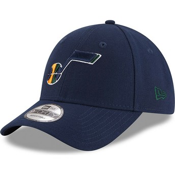 Cappellino visiera curva blu marino regolabile 9FORTY The League di Utah Jazz NBA di New Era