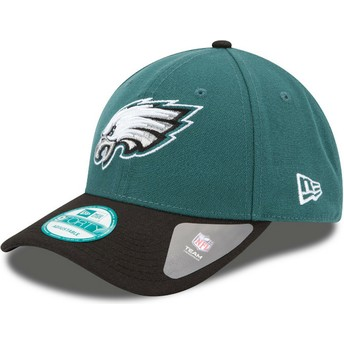 Cappellino visiera curva verde e nero regolabile 9FORTY The League di Philadelphia Eagles NFL di New Era