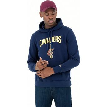 Felpa con cappuccio blu marino Pullover Hoody di Cleveland Cavaliers NBA di New Era