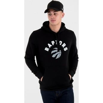 Felpa con cappuccio nera Pullover Hoody di Toronto Raptors NBA di New Era