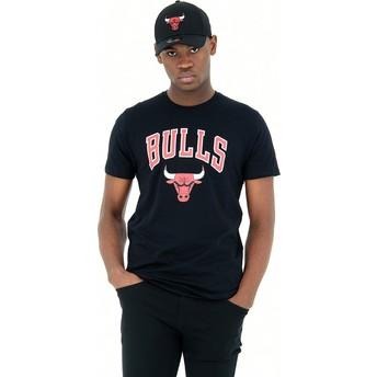 Maglietta maniche corte nera de Chicago Bulls NBA de New Era