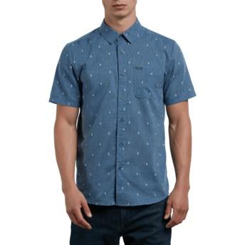 Camicia maniche corte blu Gladstone Deep Blue di Volcom