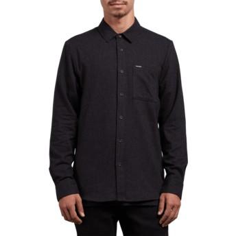 Camicia maniche lunghe nera Caden Solid Black di Volcom