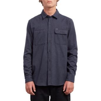 Camicia maniche lunghe blu marino Hickson Update Midnight Blue di Volcom