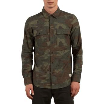 Camicia maniche lunghe camuflaje Woodland Camouflage di Volcom