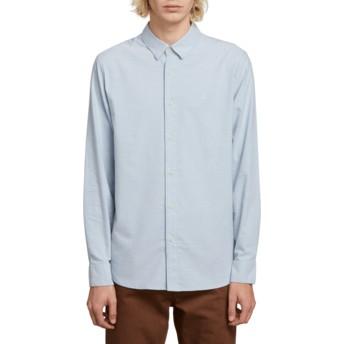 Camicia maniche lunghe blu Oxford Stretch Wrecked Indigo di Volcom
