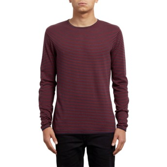 Maglione rosso Harweird Stripe Crimson di Volcom