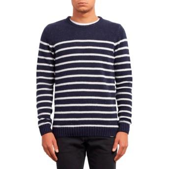 Maglione blu marino Edmonder Striped Navy di Volcom