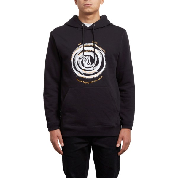 felpa-con-cappuccio-nera-reload-black-out-di-volcom