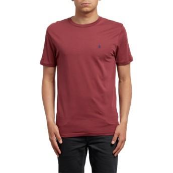 Maglietta maniche corte rossa Stone Blanks Crimson de Volcom