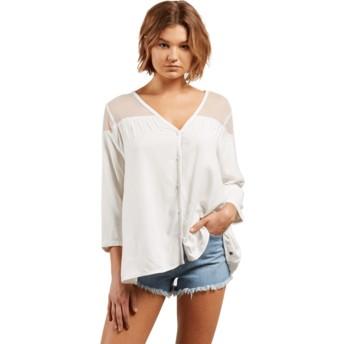 Camicia maniche lunghe bianca Sea Y'around Star White di Volcom