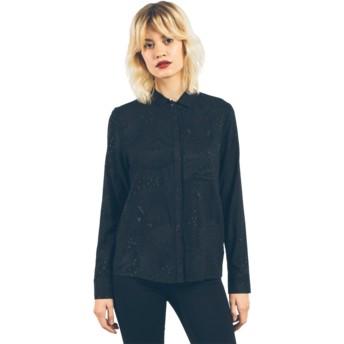Camicia maniche lunghe nera Space Trip Black di Volcom