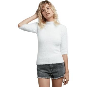 Maglione bianco Bunney Riot Star White di Volcom