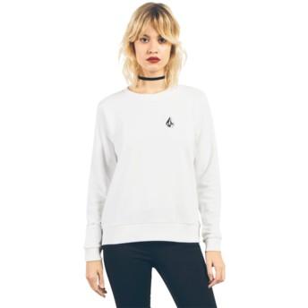 Felpa senza cappuccio bianca con logo Sound Check White di Volcom