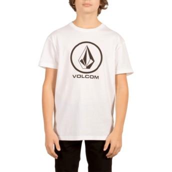 Maglietta maniche corte bianca per bambino Circle Stone White de Volcom
