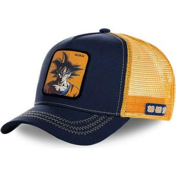 Cappellino trucker blu marino e arancione Son Goku GOK Dragon Ball di Capslab
