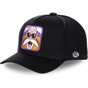 Cappellino visiera curva nero snapback Master Roshi KAMB Dragon Ball di Capslab