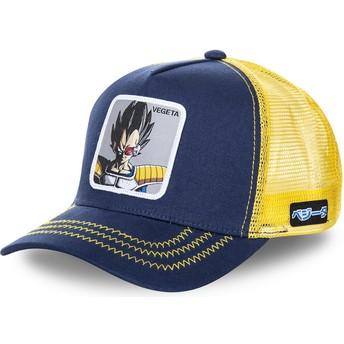 Cappellino trucker blu marino e giallo Vegeta VEG Dragon Ball di Capslab