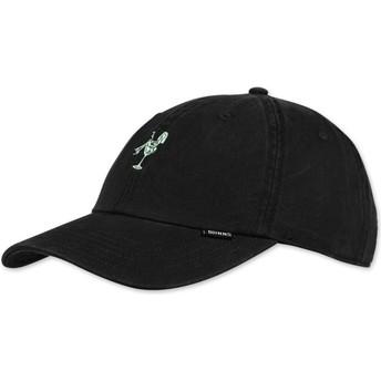 Cappellino visiera curva nero regolabile Washed Girl di Djinns