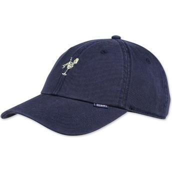 Cappellino visiera curva blu marino regolabile Washed Girl di Djinns