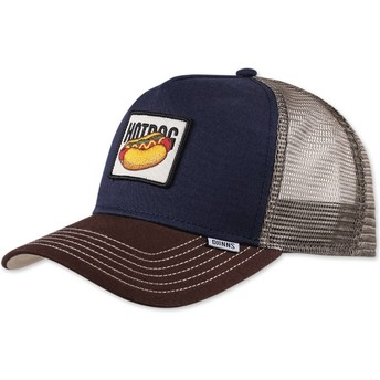 Cappellino trucker blu marino Food Hot Dog di Djinns