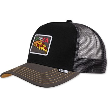 Cappellino trucker nero Food Pizza di Djinns