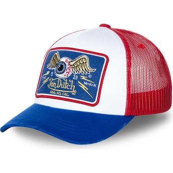 Cappellino trucker bianco, rosso e blu TRUCK18 di Von Dutch