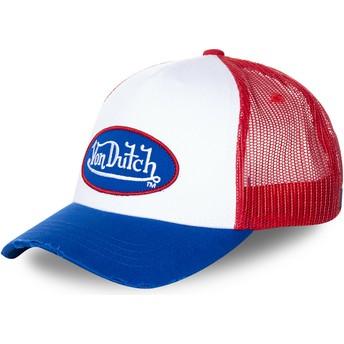 Cappellino trucker bianco, rosso e blu TRUCK16 di Von Dutch