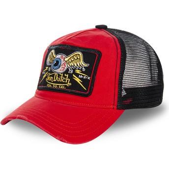 Cappellino trucker rosso e nero TRUCK05 di Von Dutch