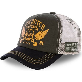 Cappellino trucker marrone e nero CREW5 di Von Dutch