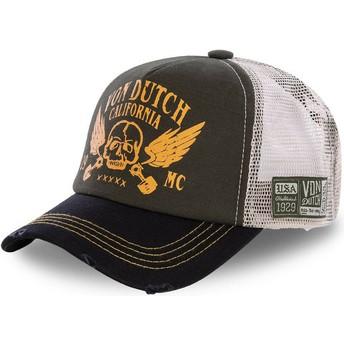 Cappellino trucker marrone e nero CREW5 di Von Dutch