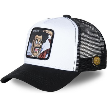 Cappellino trucker bianco e nero Mr. Satan SAT1 Dragon Ball di Capslab