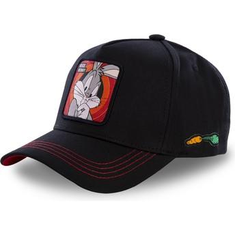 Cappellino visiera curva nero snapback Bugs Bunny BUG2 Looney Tunes di Capslab
