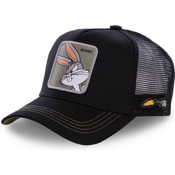 Cappellino trucker nero Bugs Bunny BUN1 Looney Tunes di Capslab