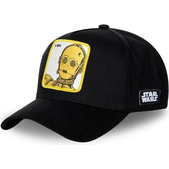 Cappellino visiera curva nero snapback C-3PO C3P3 Star Wars di Capslab
