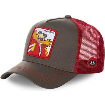 Cappellino trucker grigio e rosso Doctor Eggman EGG Sonic the Hedgehog di Capslab