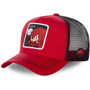 Cappellino trucker rosso e nero Knuckles the Echidna KNU Sonic the Hedgehog di Capslab