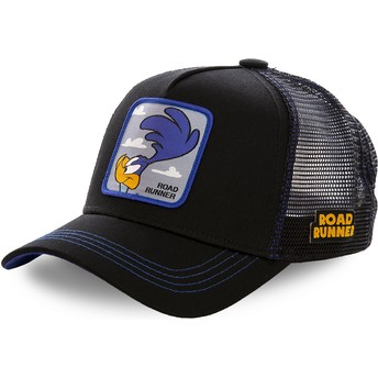 Cappellino trucker nero Beep Beep ROA1 Looney Tunes di Capslab