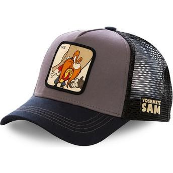 Cappellino trucker grigio e nero Yosemite Sam SAM2 Looney Tunes di Capslab