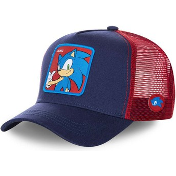 Cappellino trucker blu marino e rosso Sonic SO1 Sonic the Hedgehog di Capslab