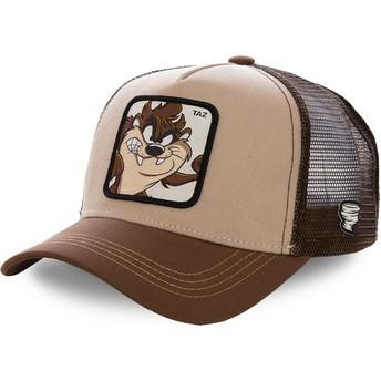 Cappellino trucker marrone Diavolo di Tasmania TAZ2 Looney Tunes di Capslab