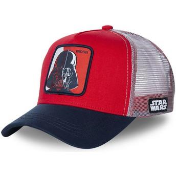 Cappellino trucker rosso, bianco e blu marino Darth Vader VAD1 Star Wars di Capslab