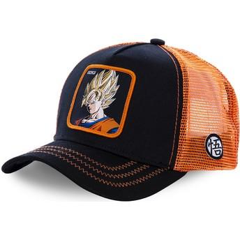 Cappellino trucker nero e arancione Son Goku Super Saiyan GO3 Dragon Ball di Capslab
