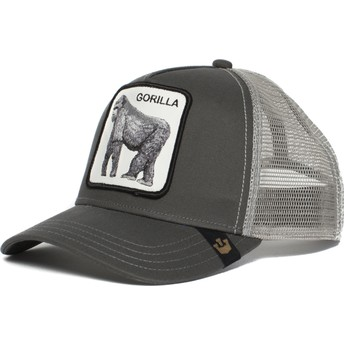 Cappellino trucker grigio gorilla King of the Jungle di Goorin Bros.