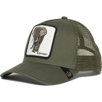 Cappellino trucker verde elefante Elephant di Goorin Bros.
