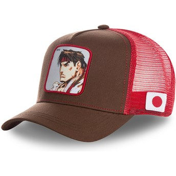 Cappellino trucker rosso Ryu RYU Street Fighter di Capslab